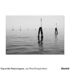 Fog on the Venice Lagoon black and white photo Poster Republic Of Ireland, Landscape Prints, Custom Posters, Holiday Photos, Photographic Prints, Shades Of Grey, Mists, Venice, Scenery