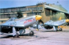 A F-51s from the 82nd Fighter Group at Grenier AFB Manchester NH in 1949.