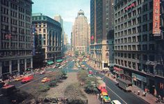 Herald Square 1940s Macy's and Martinique Hotel (now Radisson Martinique) still intact along with building in the center