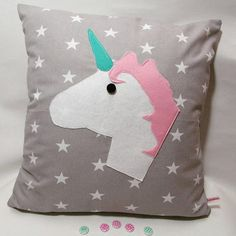 This item is unavailable Unicorn, Sunshine, My Etsy Shop, Zara, Snoopy, Felt, Cushions, Clouds, Throw Pillows