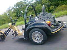 Amazing 3 Wheelers - #searchlocated - Fusca Moto Vw Trike, Trike Motorcycle, Custom Trikes, Vintage Boats, Triumph Motorcycles, Bmw, Bike Design, Vw Beetles, Go Kart