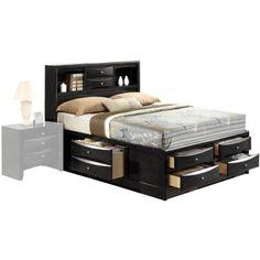 Acme Ireland Queen Storage Bed, Black, Box 3 of 4