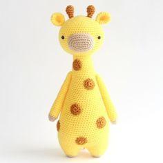 Giraffe Amigurumi Häkelanleitung von Little Bear Crochets Crochet Kawaii, Chat Crochet, Bunny Crochet, Crochet Giraffe Pattern, Crochet Toys Patterns, Crochet Patterns Amigurumi, Amigurumi Doll, Crochet Animals, Stuffed Toys Patterns