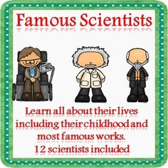 Learn all about 12 famous scientists using these fact files. Learn about their childhood, education and some of their key work in science. Perfect for displays or for reading to gain knowledge.Included are:Albert EinsteinAlexander FlemingCharles DarwinDian FosseyGalileoIsaac NewtonIvan PavlovLouis PasteurNikola TeslaRobert OppenheimerSally RideStephen Hawking