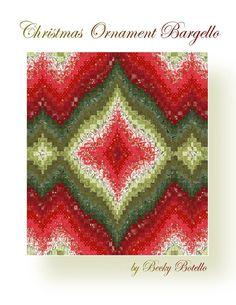 Christmas Ornament Bargello Quilt Top E-Pattern PDF
