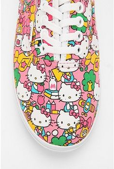 Vans x Hello Kitty Lo Pro Sneaker Hello Kitty Shoes, Hello Kitty Items, Sanrio Hello Kitty, Crazy Shoes, Me Too Shoes, Wonderful Day, Miss Kitty, Pin On, Kawaii