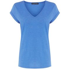 Warehouse V Neck Boyfriend Tee ($19) ❤ liked on Polyvore featuring tops, t-shirts, shirts, light blue, sale, blue t shirt, vneck tops, light blue top, boyfriend t shirt и warehouse t shirts