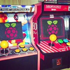 Something we loved from Instagram! Mini arcade machines made with raspberry pi…