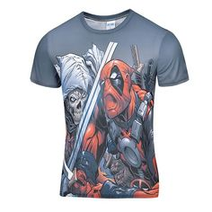 "Deadpool Marvel ""The Battle"" Graphics 3D Compression Tee"