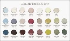 Benjamin Moore 2015 Paint Color Trends. New Benjamin Moore 2015 Paint Color Trends. #BenjaminMoore #2015 #PaintColorTrends.