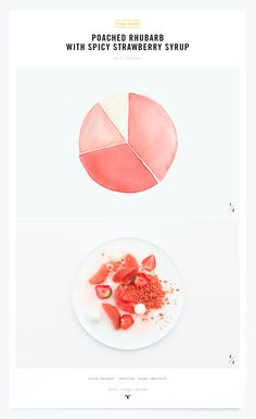Color recipe   Poached rhubarb and spicy strawberry syrup   My little Fabric