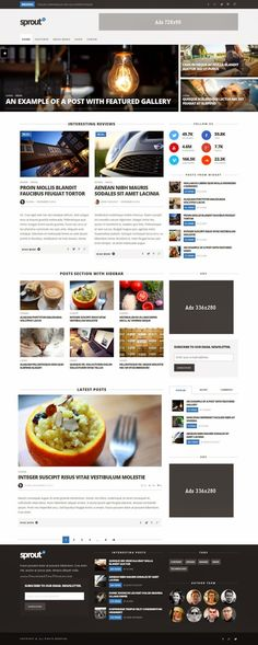 Sprout Clean Blog News Magazine Responsive Theme 2015 #webdesign