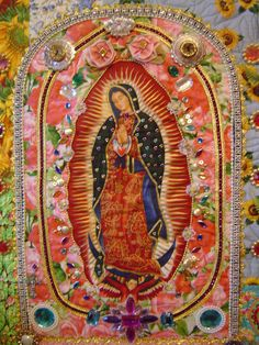 the Madonna Idea: Detailed Pictures Religious Icons, Religious Art, Cigar Box Crafts, Day Of The Dead Art, Mexico Culture, Goddess Art, Mexican Art, Small Quilts, Sacred Art