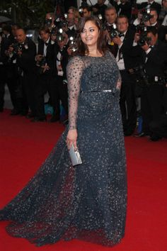 """Aishwarya Rai attends the red carpet for the screening of """"Cosmopolis"""" during the 65th Cannes International Film Festival, on May 25, 2012, at the Palais des Festivals in Cannes, southern France."""