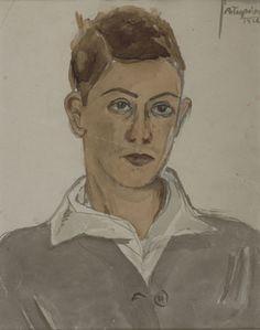 Yiannis Tsaroychis - Self Portrait, 1926