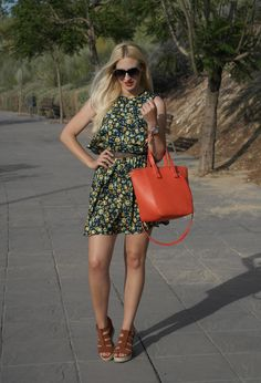 @roressclothes closet ideas #women fashion Lovely Floral Printed Dress Outfit