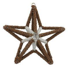 Weihnachten Dekoration aus Holz Perlen Sterne Ornament Handarbeit von Handwerker von ShalinCraft, http://www.amazon.de/dp/B009OZIAJK/ref=cm_sw_r_pi_dp_37gOsb0ZD8AHY