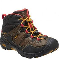 1011748 KEEN Youth Pagosa Mid WP Hiking Boots - Cascade Brown www.bootbay.com