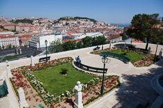 Primavera a Lisbona, Miradouro de Sao Pedro de Alcantara, Lisbon, Portugal