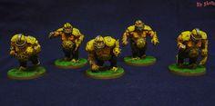 Sir Skofis's Workshop: Ogre conversions for a Blood Bowl Ogre Team