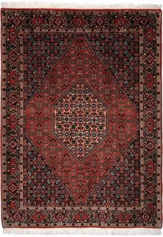 "Bidjar Rust Classic Medallion Carpet CS-M991371162 X 120 Cm. (5'4"" X 4' Ft.) - Carpetsanta"