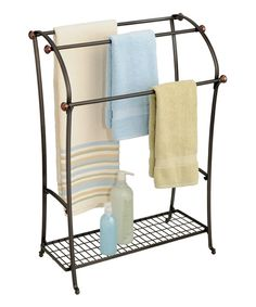 Look at this Bronze York Lyra Floor Towel Stand on #zulily today!