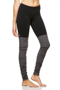 Alo Yoga Goddess Ribbed Legging in Black/Stormy- Coming to #purebarremacon soon!