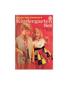 Enid Gilchrist Kindergarten Set 3-6 years - Drafting Book - Instant Download PDF 52 pages Pdf Patterns, Craft Patterns, Vintage Patterns, See Picture, 6 Years, 1990s, Kindergarten, This Book, Knitting