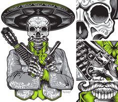 Serpanther and Mariachi Shirts by Pale Horse , via Behance Skateboard Design, Skateboard Art, New T Shirt Design, Shirt Designs, Pale Horse, Horse Illustration, Horse Shirt, Deck Design, Art Boards