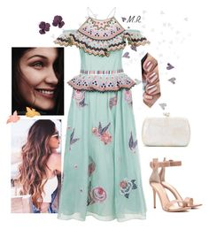 """Wildflower"" by fandemode85 ❤ liked on Polyvore featuring Temperley London, Gianvito Rossi and Serpui"