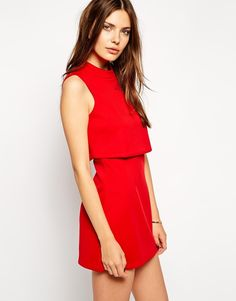 Style a red dress by alice
