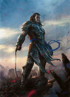 m Fighter Plate Armor Shield Steel Whip Traveler Gideon Jura Magic the Gathering lg Fantasy Warrior, High Fantasy, Medieval Fantasy, Character Portraits, Character Art, Character Ideas, Fantasy Portraits, Fantasy Artwork, Character Concept
