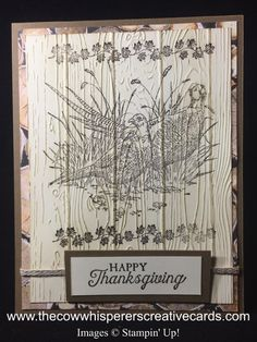 Pleasant Pheasants for Fall, or Masculine by The Cow Whisperer - Cards and Paper Crafts at Splitcoaststampers Diy Thanksgiving Cards, Fall Cards, Christmas Cards, Stamping Up Cards, Bird Cards, Animal Cards, Cards For Friends, Card Tutorials, Pheasant
