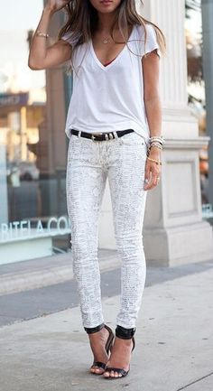 Summer Outfits / all white