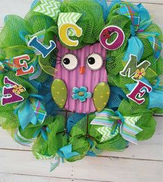 Check out this item in my Etsy shop https://www.etsy.com/listing/512796261/owl-wreath-spring-wreath-summer-wreath