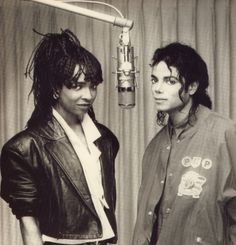 Michael and Siedah in the recording studio