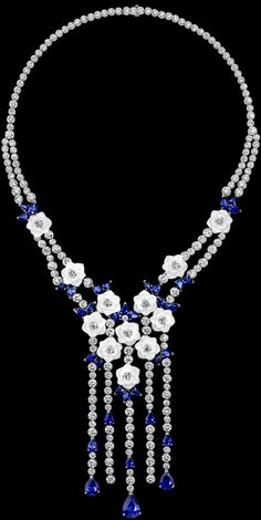 piaget White gold Chalcedony Diamond Necklace