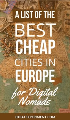 Here's what we think are the best cheap cities in Europe for digital nomads. All of our choices are based on facts and opinions sourced from current cost of living data and impressions of digital nomads stationed around the world. Living In Europe, Cities In Europe, Work Travel, Travel Tips, Travel Destinations, Budget Travel, Travel Hacks, Travel Ideas, Travelling Tips