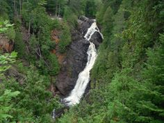 1. Big Manitou Falls is located in Superior Wisconsin. At 165 feet, it's Wisconsin's tallest waterfall.