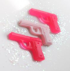 Gun Pistol Soaps  Pink Soap Grapefruit by AubreyEApothecary, $6.50