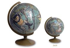 I'm having a modge podge moment....Children's Book Globes.