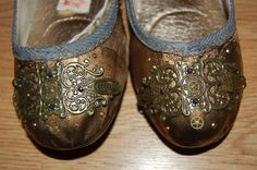 Steampunk Hand decorated ballet flats by Houseofbecca on Etsy