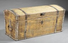 Colonist's trunk, French made 18th century found in Louisiana. To be sold at Neal Auction, New Orleans, LA—Nov 17–19, 2017.