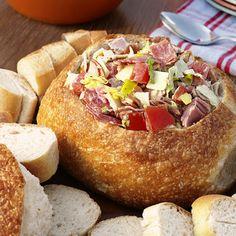 Hoagie Appetizer in a Bread Bowl