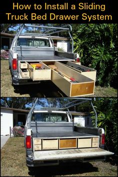 how to install a diy truck bed storage system share your craft rh pinterest com