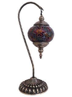 "Abajur Turco ""Mosaico Colorido"" 45cm - Luminária - http://www.artesintonia.com.br/abajur-turco-mosaico-colorido-45cm-luminaria"