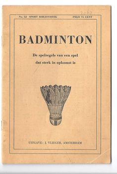 Vintage 1950's Badminton instructions.