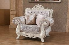 Shop Meridian Furniture Venice Pearl White Chair with great price, The Classy Home Furniture has the best selection of to choose from Living Room Sets, Living Room Chairs, Living Room Furniture, Living Room Designs, Acme Furniture, Furniture Sets, Unusual Furniture, Furniture Market, Furniture Chairs