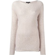 Nude cashmere round neck jumper from Etro. Gender: Female. Age Group: Adult. Material: Silk/Cashmere/Metallic Fibre.