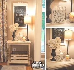 Great site for decor ideas Pearls, Handcuffs, and Happy Hour: Home Tour Tuesday - The Not-So-Formal Dining Room